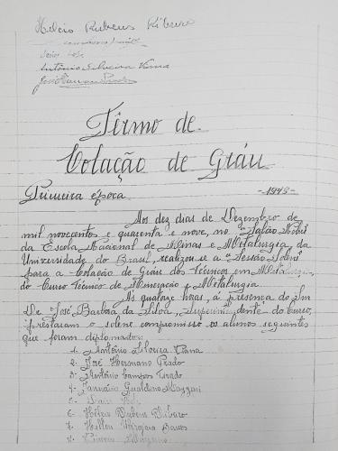 Termo de colação de grau 1ª época - 1948 - continuação
