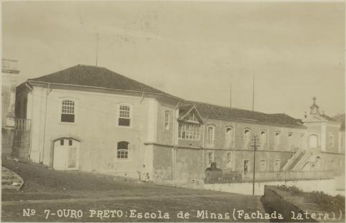 Escola de Minas e Metalurgia da Universidade Federal de Ouro Preto Créditos:  Arquivo Nacional MAPA – Memória da Administração Pública Brasileira - Escola de Minas, Ouro Preto (MG), [1927]